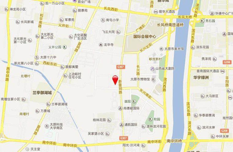 晋阳·峰璟位置图