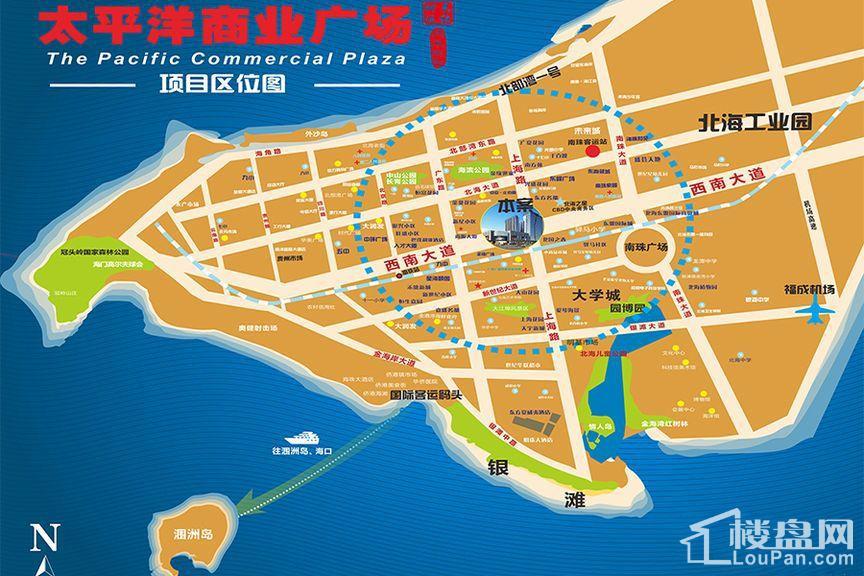 太平洋商业广场位置图