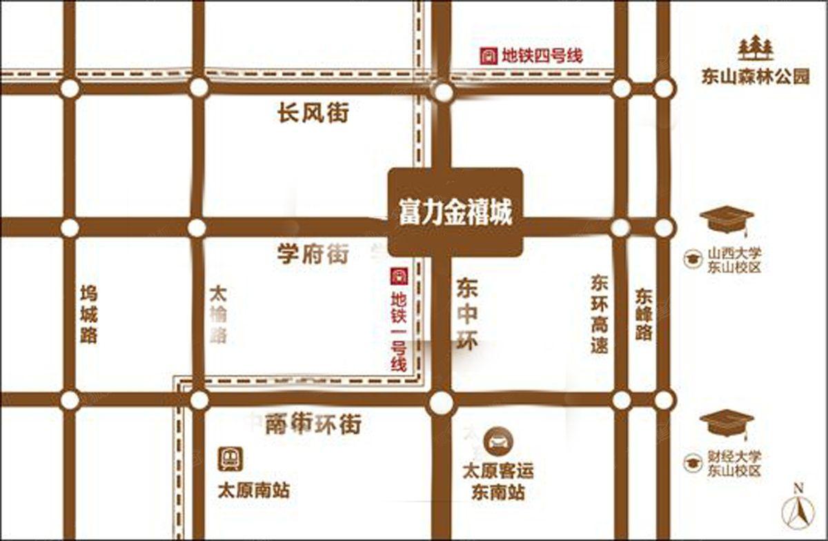 富力金禧城位置图