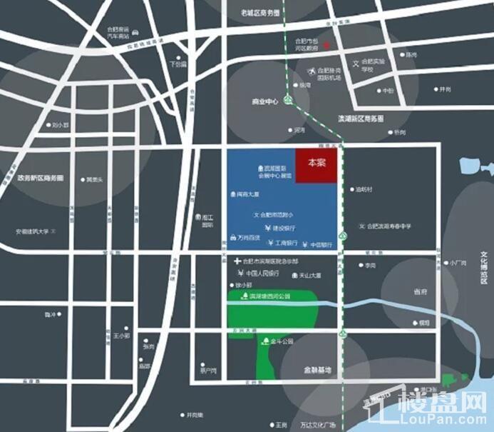 滨湖新地城位置图