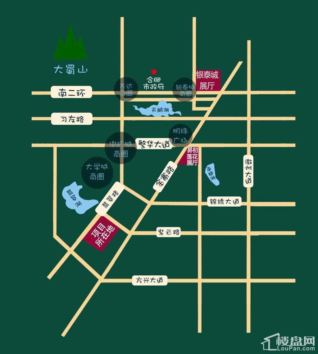 世茂翡翠首府位置图