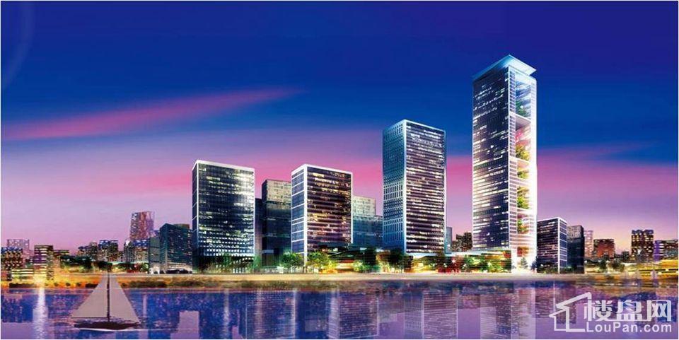高速滨湖时代广场金融中心效果图