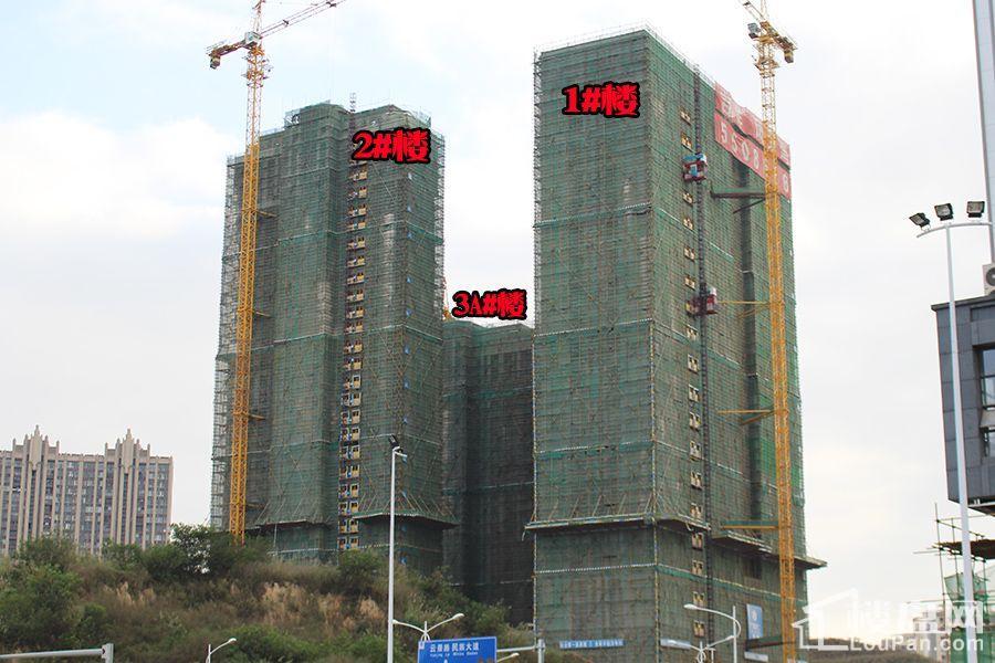 吉祥凤景湾1/2/3号楼已封顶(摄于2016.12.21)