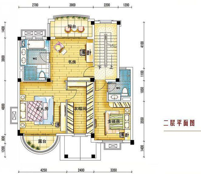 碧桂园南城首府260平二层户型