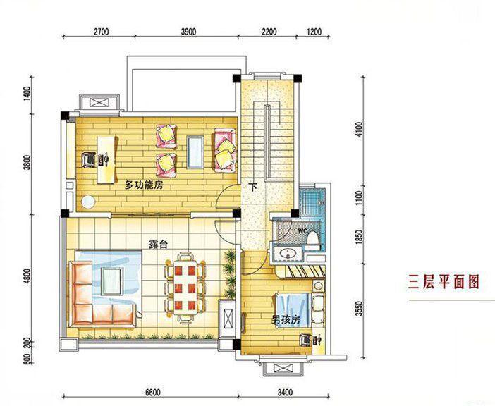 碧桂园南城首府 260平三层户型