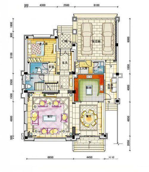 碧桂园南城首府480平一层户型图