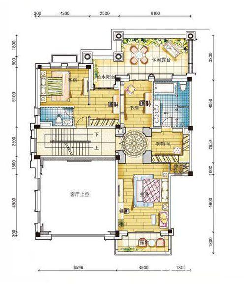 碧桂园南城首府480平二层户型图