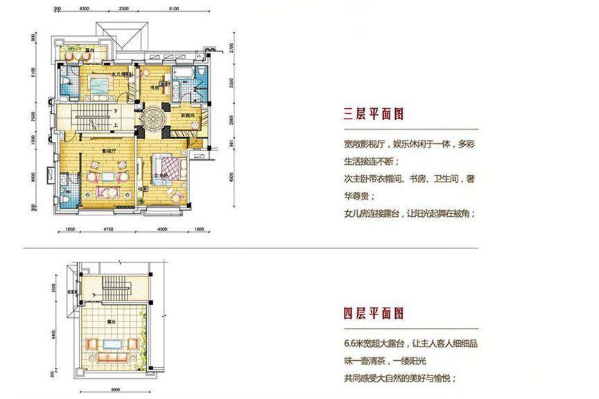 碧桂园南城首府480三、四层户型