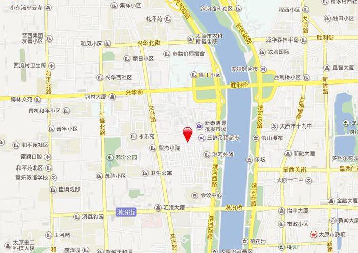 太原恒大滨河左岸位置图