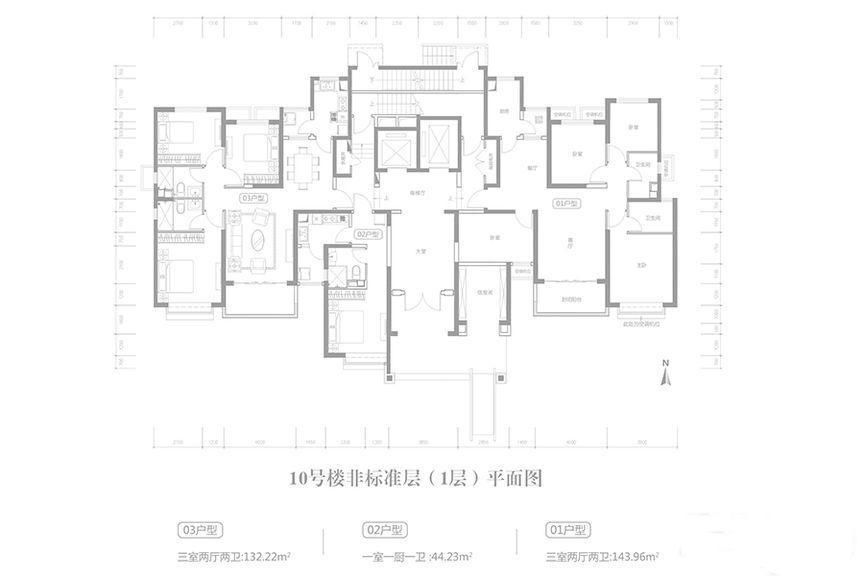 二期10号楼1层平面户型
