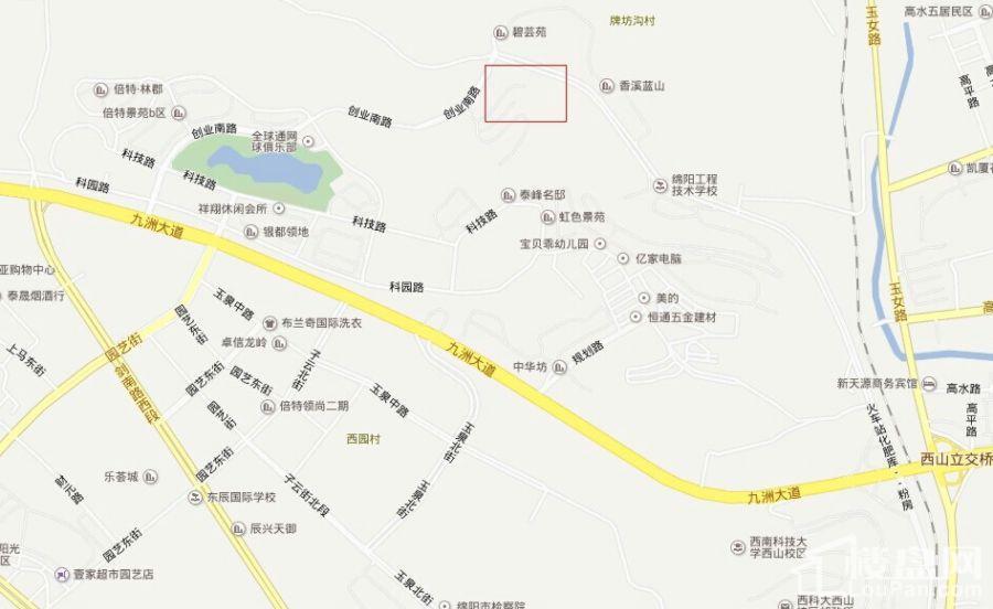 荣华山庄二期温情港湾位置图