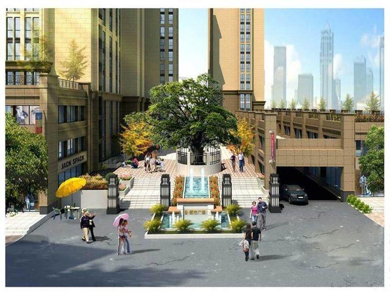 都市广场效果图