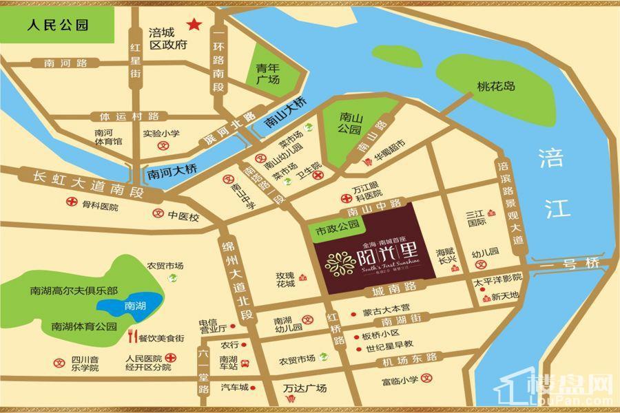 金海南城首座阳光里区域图