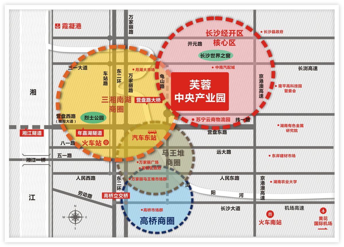 芙蓉中央产业园位置图