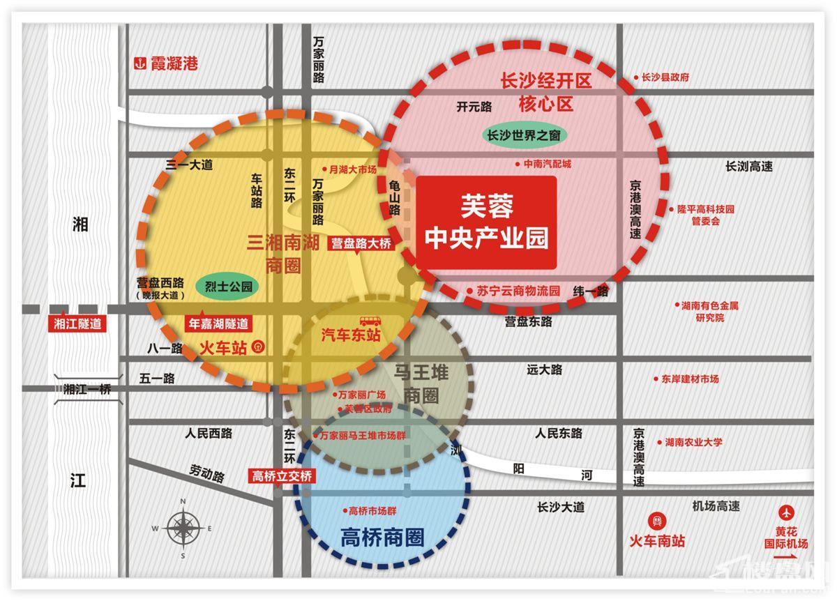 芙蓉中央产业园区位图