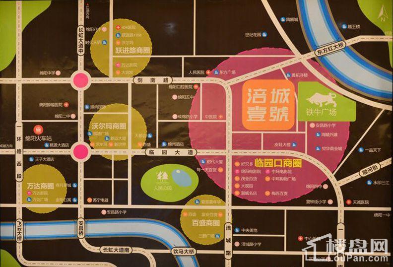 涪城 · 壹號位置图