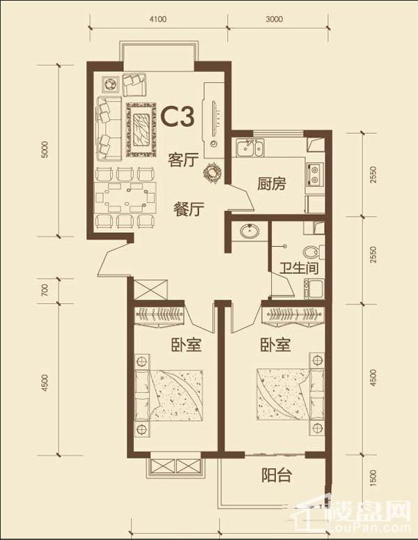 东唐花园C3户型