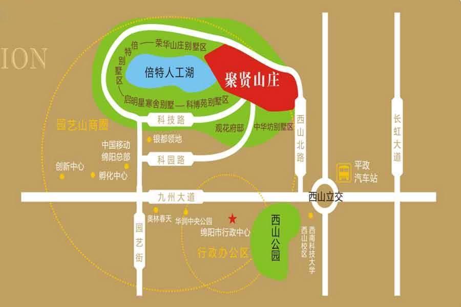 聚贤山庄别墅位置图