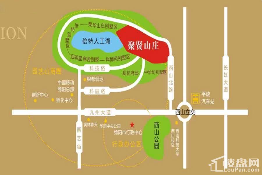 聚贤山庄-区域图