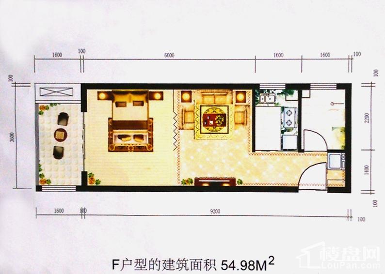 裕峰城市花园4#F户型