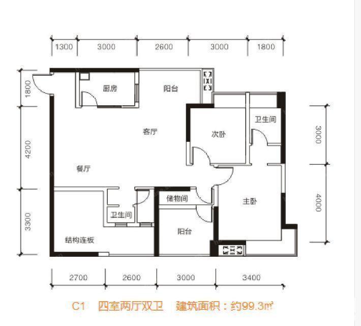 樊华似锦四期·绽放C1户型图