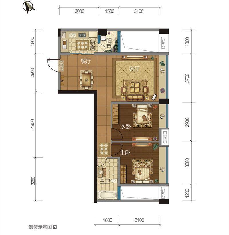 百乐汇广场1户型图