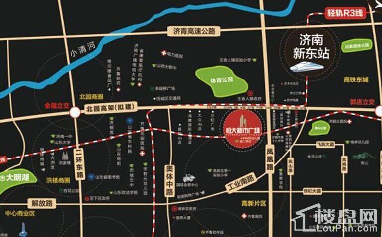 济南恒大城位置图