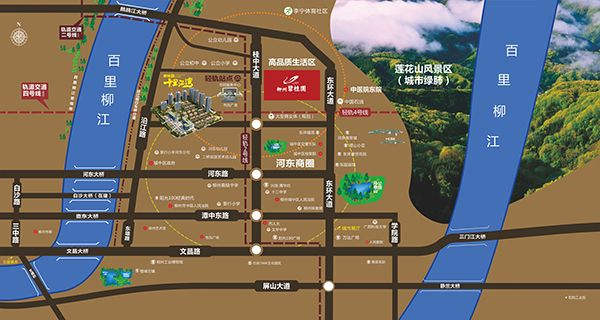 碧桂园·十里江湾位置图