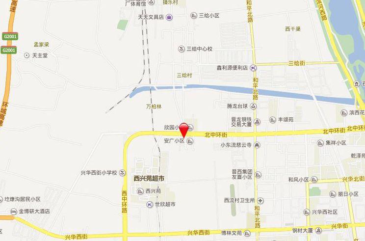 万厦康城位置图