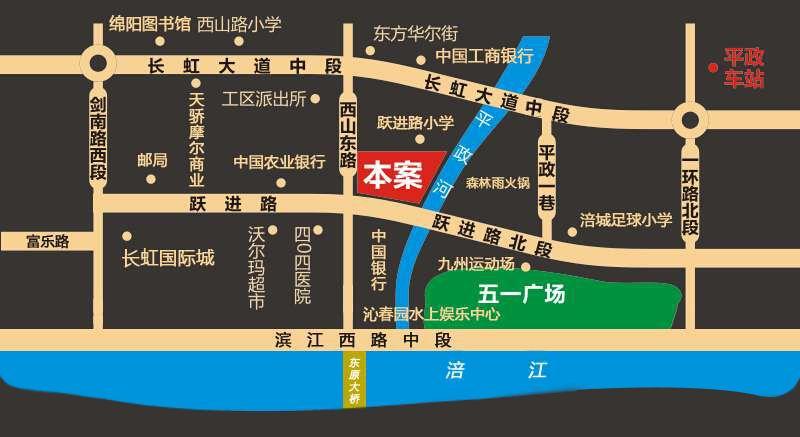 西城都市中心位置图