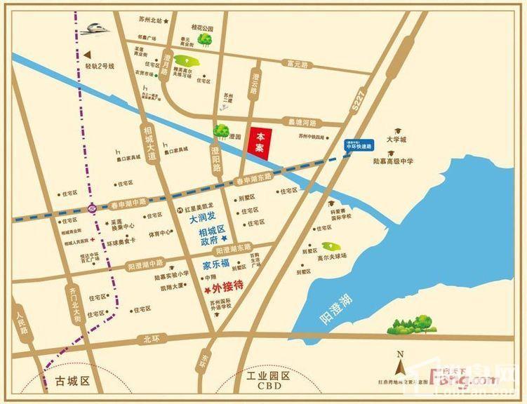 红鼎湾花园位置图