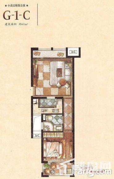 小高层精装公寓G-1-C户型