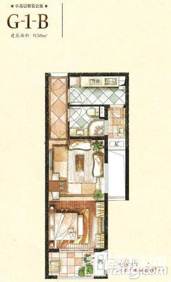 小高层精装公寓G-1-B户型