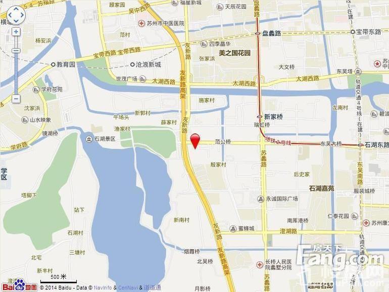 苏州吴中万达广场位置图
