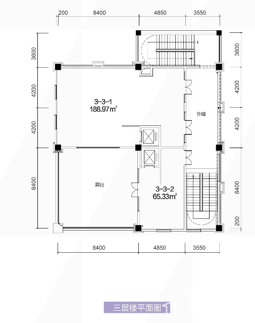3栋3层平面图