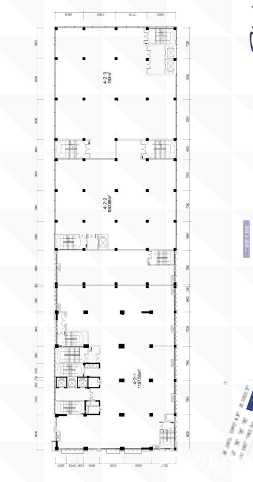 4栋2层平面图