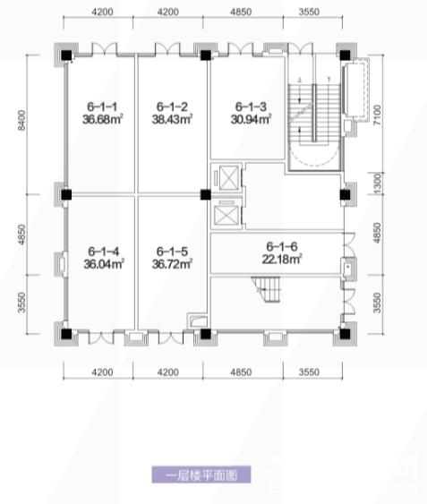 6栋1层户型图