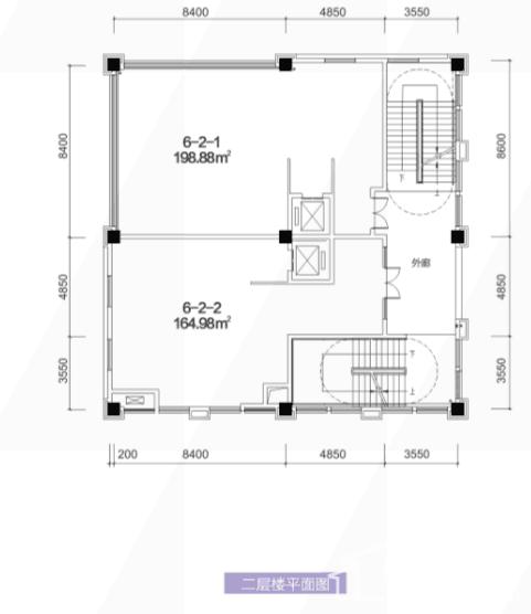 6栋2层平面图