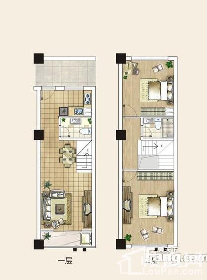 酒店式公寓标准层A户型