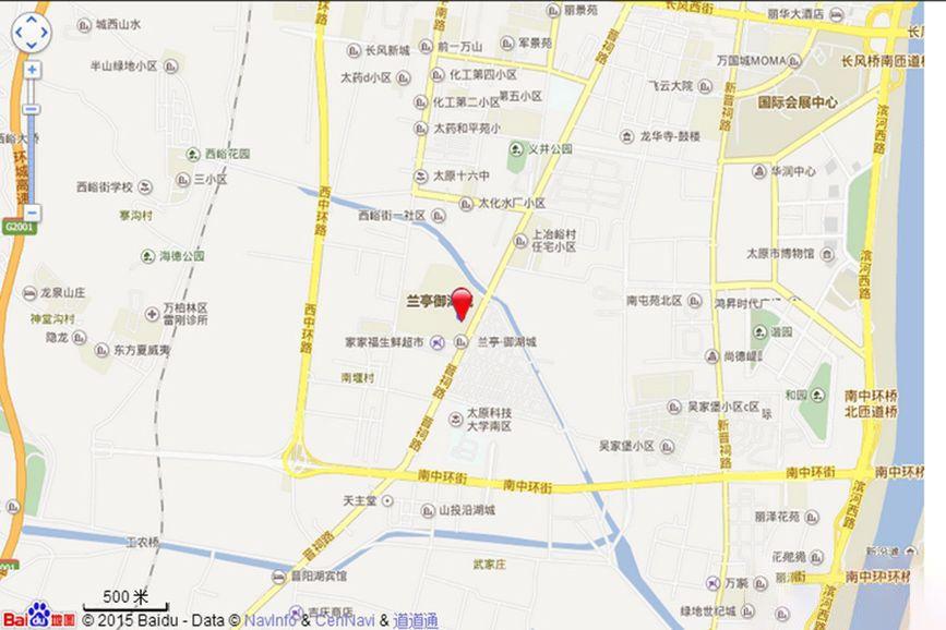 兰亭御湖城西区位置图