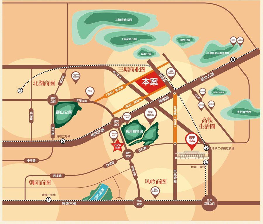 海普四季绿城位置图