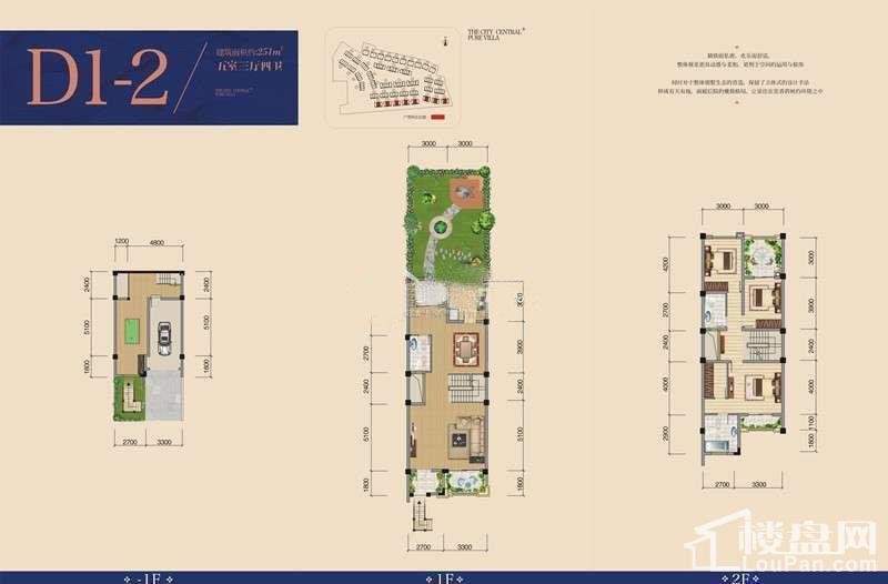 一期别墅D1-2户型图