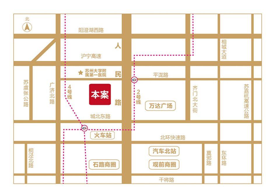 苏州城市生活广场位置图