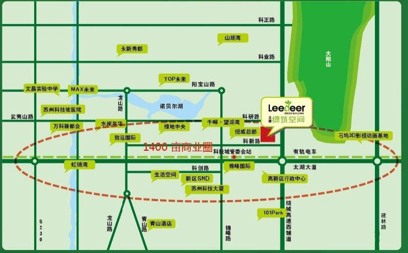 立德绿筑商务广场位置图