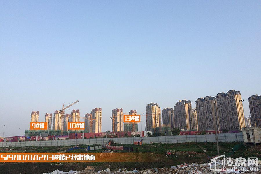 中海三期悦公馆5/9/10/11/12/13#楼已经出地面(摄于2017.2.5)