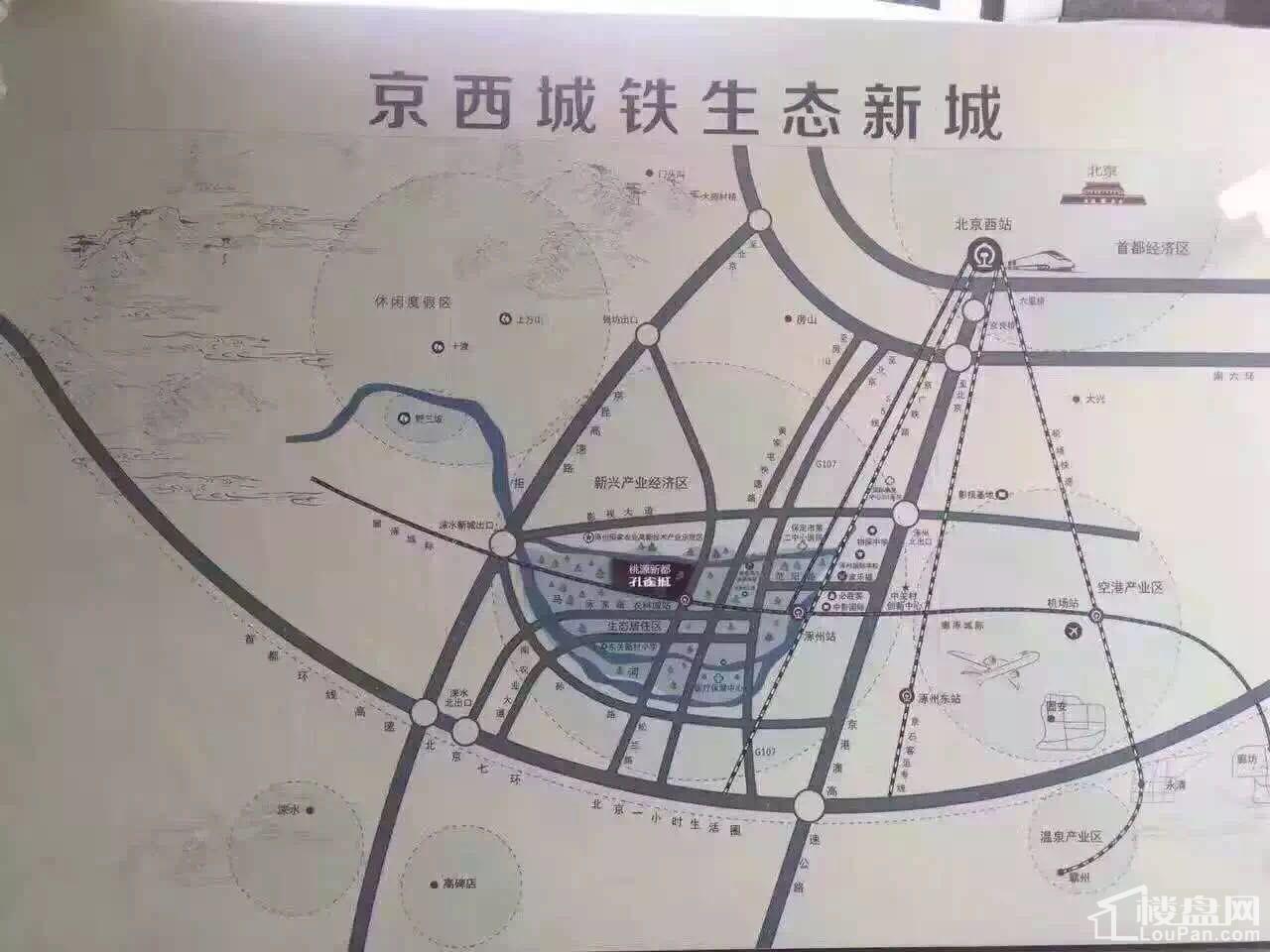 涿州《孔雀城》位置图