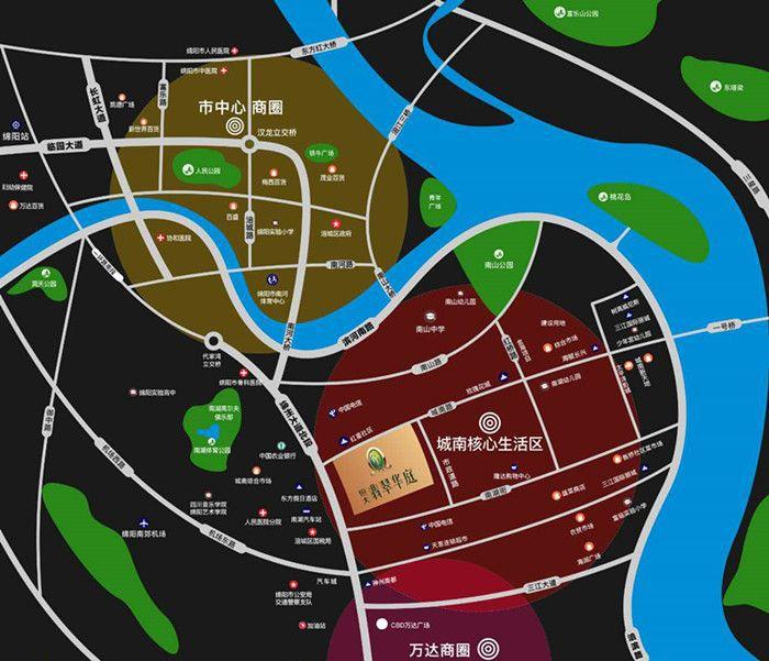 恒大·翡翠华庭位置图
