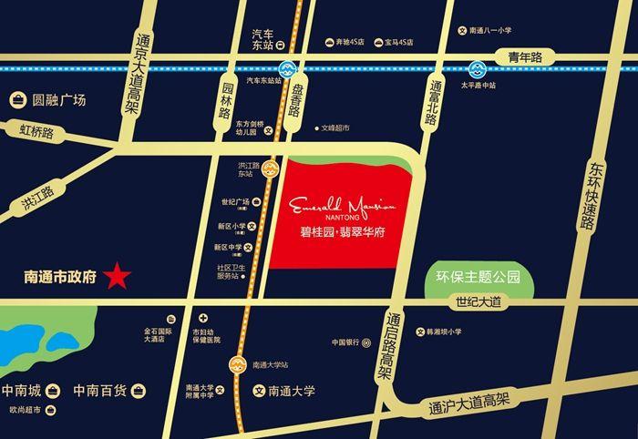 碧桂园翡翠华府位置图