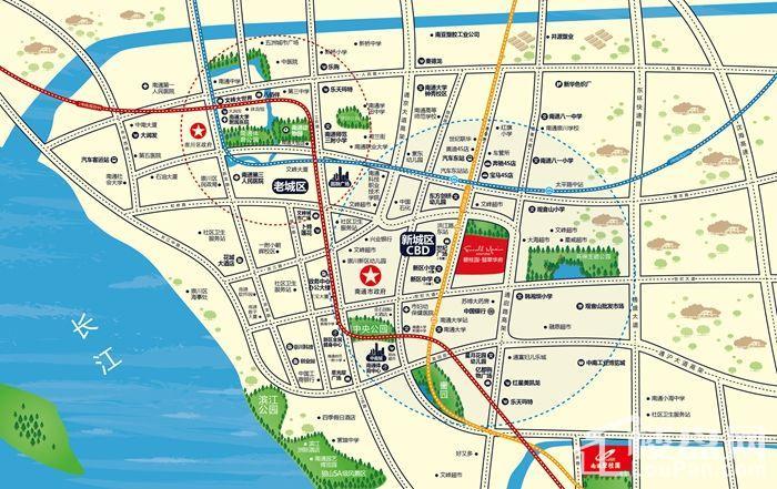 碧桂园翡翠华府区位交通图