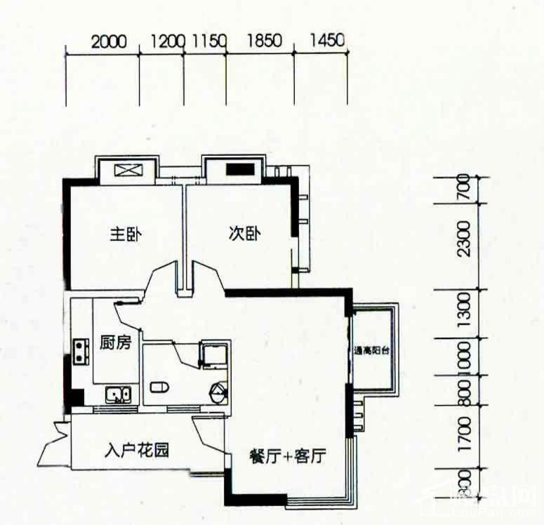 北海南岸4#01号房户型图